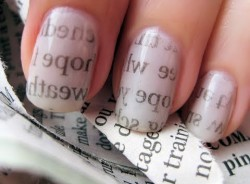 NewsPaper Nail Art: notizie sulle unghie
